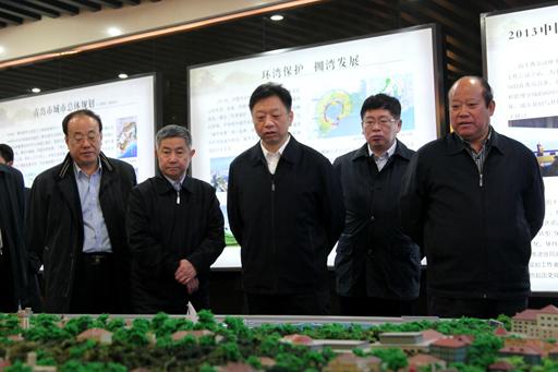 考察青岛市海洋功能区划,了解胶州湾岸线整治修复工程进展情况.